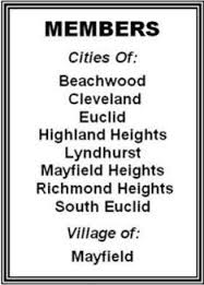 Beachwood, Cleveland, Euclid, Highland Heights, Lyndhurst, Mayfield Heights, Richmond Heights, South