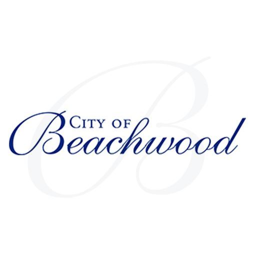 City of Beachwood logo with a Script-B behind it