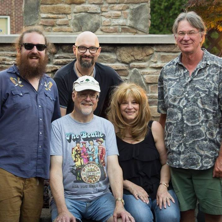 portrait of five members of the Big 5 Show Band