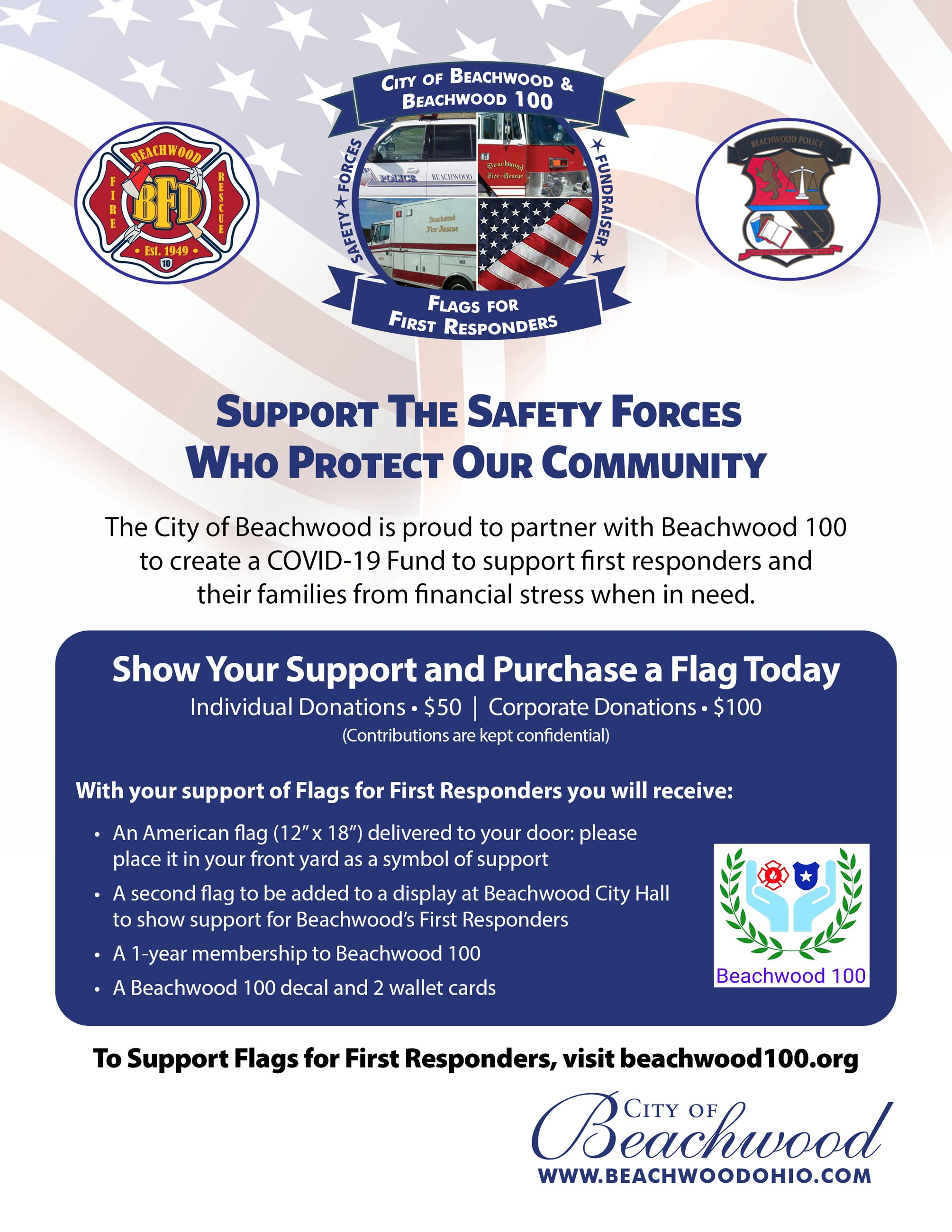 Flags for First Responders Flyer