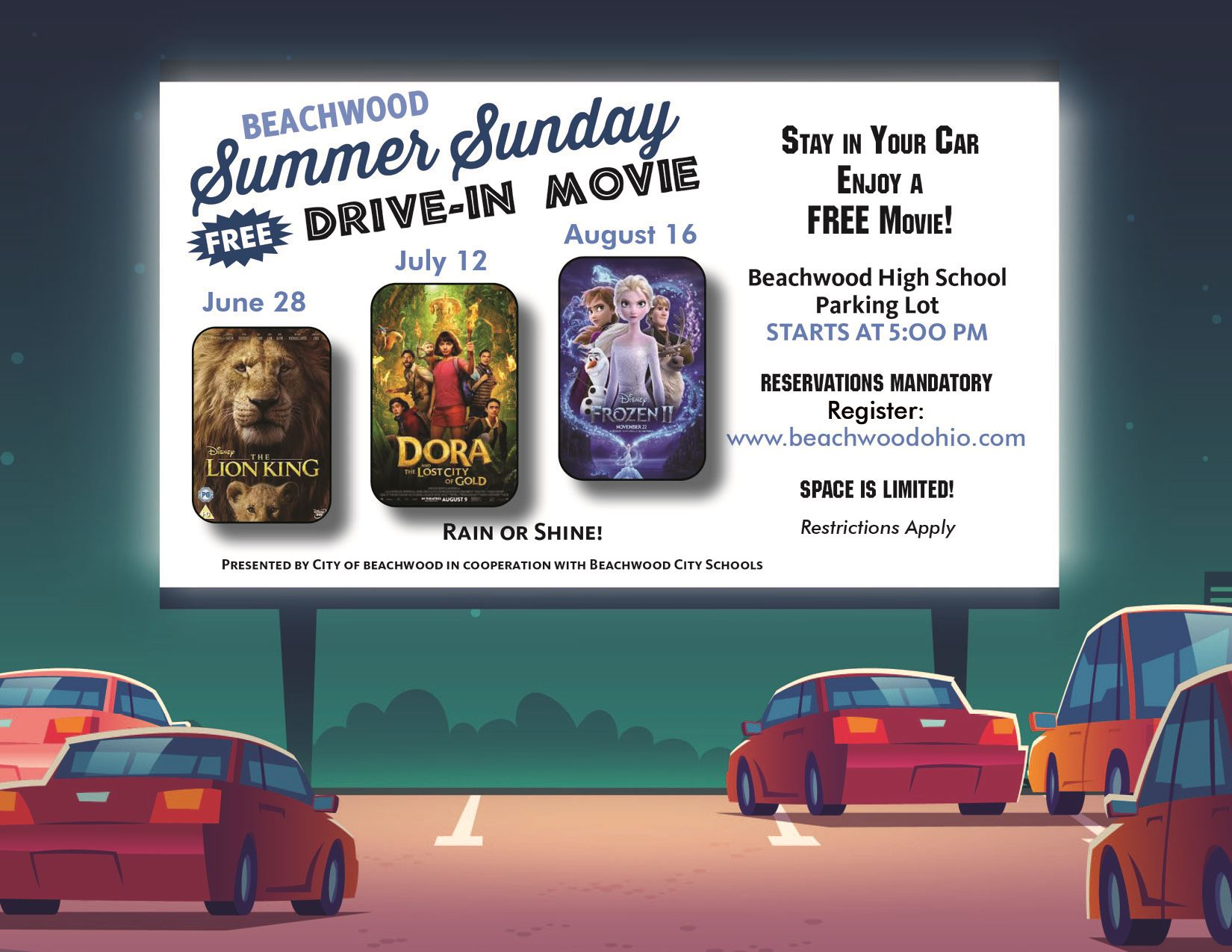 Summer Sunday Movie Flyer 2020