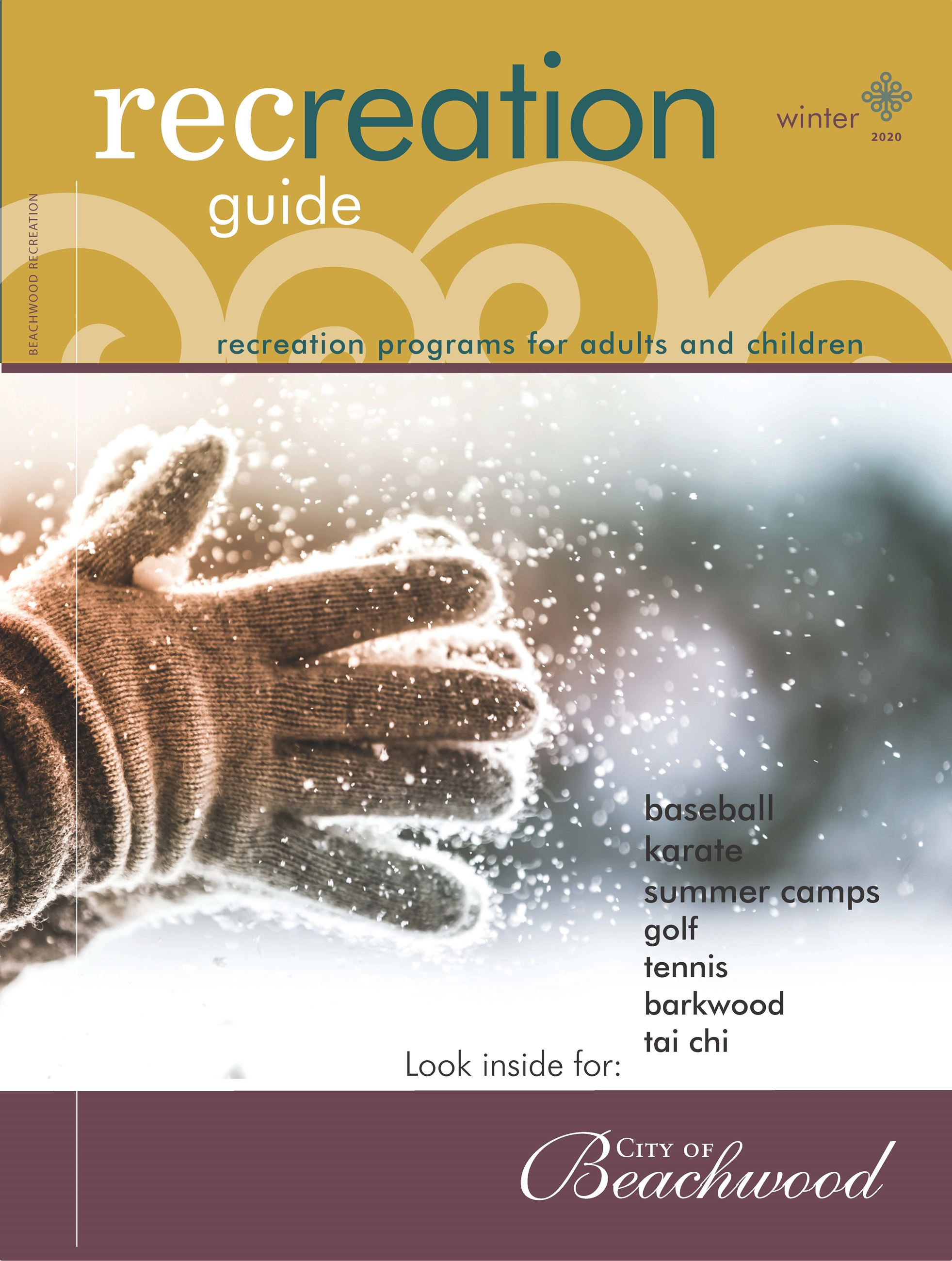 Winter Recreation 2020 Guide front cover
