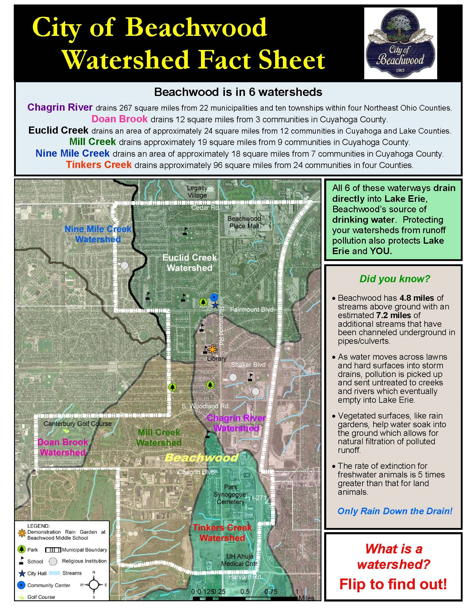 City of Beachwood Watershed Fact Sheet Side 1